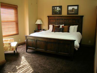 Upper master bedroom, with a king bed