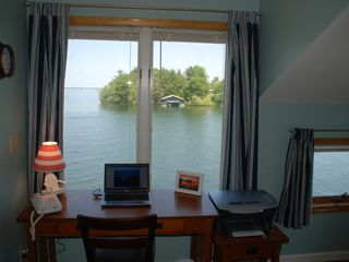 MB office with view of Goose Bay and Shipping Channel - Alexandria Bay cottage vacation rental photo