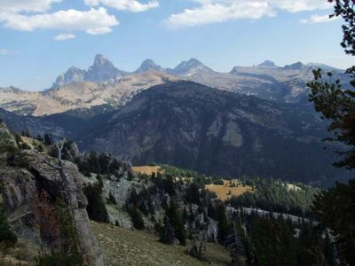 View of Tetons from Targhee
