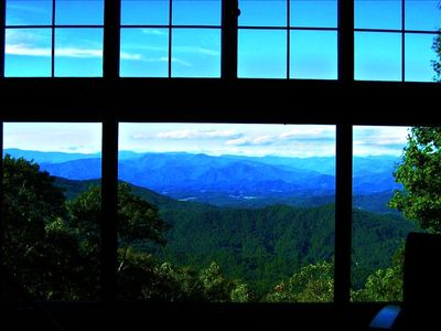 View of the Great Smoky Mountains from the master suite
