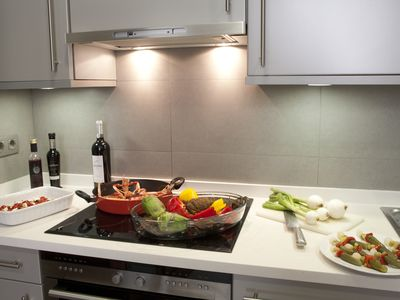 Located at Barcelona, Spain an Apartment with a full kitchen and WiFi