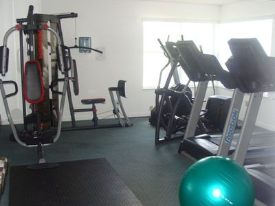 Sweetwater Club condo rental - Exercise room in clubhouse which is located a few steps from our condo
