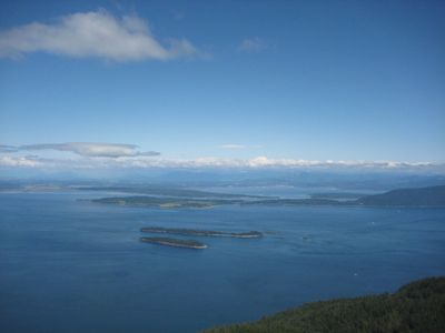 Incredible panoramic views from the top of Mt. Constitution