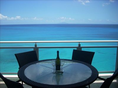 Cupecoy condo rental - View of Caribbean Sea from Main Balcony
