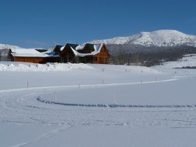 Alta house rental - Long walks or cross country skiing from house.