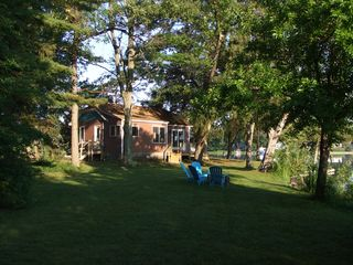 Paw Paw cottage photo - view of cabin, deck and side yard