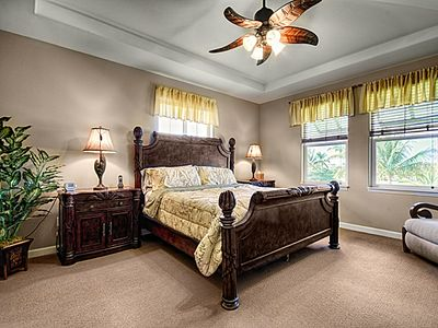 Inviting Master Suite with King Sized Bed, Flat Screen TV and DVD Player