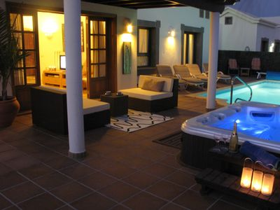 Playa Blanca villa rental - Pool & Spa area
