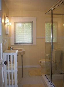 Newly Renovated Upstairs Bath with walk-in shower.