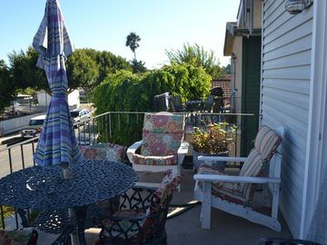 Seal Beach apartment rental - Balcony looking south