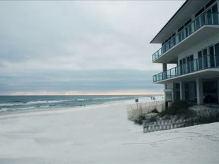 Inlet Beach house photo - View of house looking west. House is closest to the water with 96' private beach