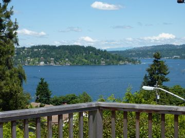 Seward Park house rental - SPECTACULAR VIEW of Lake from deck