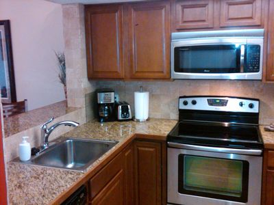 New stainless appliances, cabinets, and countertops now welcome you!