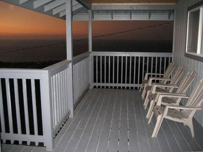 Milolii house rental - Upper Lanai Sunset