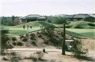 Other Scottsdale Properties villa rental - View of 13th Green 'Signature Hole' at Talon Golf Course in Grayhawk .