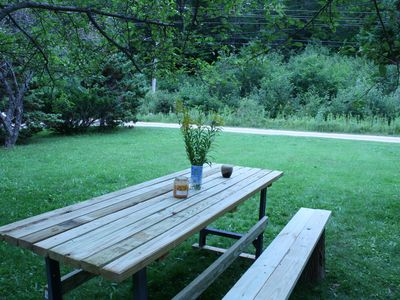 Winhall chalet rental - Backyard