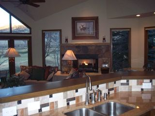 Beaver Creek house photo - Great room w/ fireplace, dining room, kitchen.