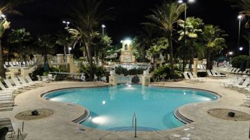 Regal Palms townhome rental - Pool Area at Night