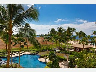 Kapolei villa photo - View of Pools, Beach & Ocean from Lanai