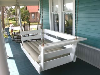 Daytona Beach house photo - Front Porch Swing and Rocking Chairs.