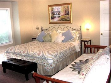 Master suite with king bed and day bed