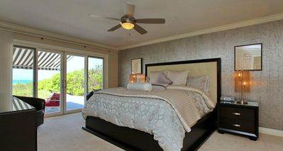 First Floor Master Bedroom With King Size Bed And Beach View
