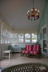 South Haven cottage photo - Bright and Spacious, Three Season Porch. Beachy & Cottage Chic