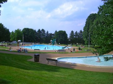 Cool off at one of 3 beautiful pools at Lititz Springs Park. Day pass about $6.