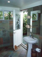Kailua studio photo - Spacious shower room w/ entry to/from lanai