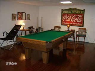 Fairburn estate photo - Terrace level activity room -regulation pool table