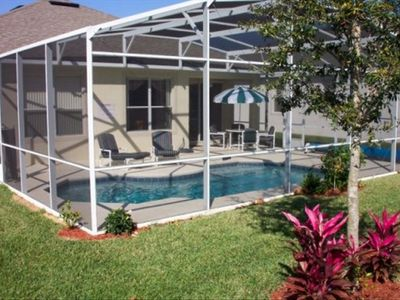 Private, south-facing , heated pool with safety fence