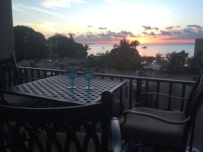 Enjoy awesome sunsets right from the comfort of your balcony!