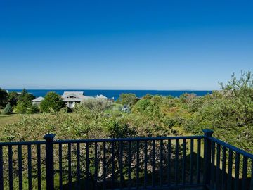 Deck Enjoys Expansive Edgartown Harbor & Chappy Views