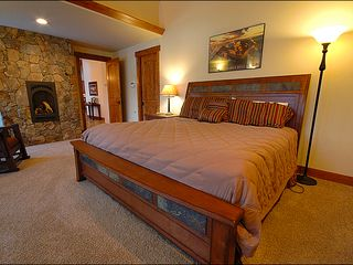 Baldy Mountain Breckenridge house photo - King Bed in the Lower Level Master with Fireplace