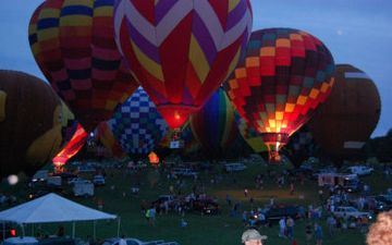Every June enjoy the Great Galena Balloon Race - Night Glow event.