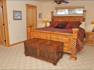 Big Sky townhome photo - Master Bedroom with King, Beautiful Furniture Set & Plenty of Space.