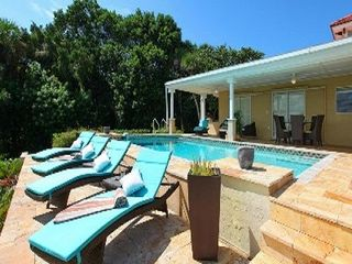 Nokomis house photo - Private Heated Swimming Pool Overlooking Bay And Tropical Vegetation