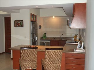Nuevo Vallarta condo photo - Fully-equipped kitchen, granite, Bosch appliances, gas stove