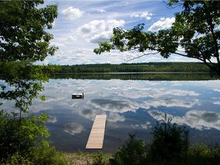 Unity cottage photo - Dock, float on Lovejoy Pond in July