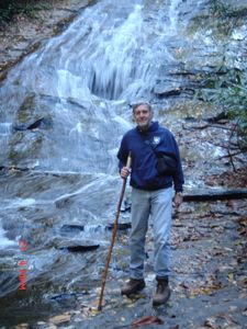 Dan at an Area Waterfall a Few Miles from Cabin