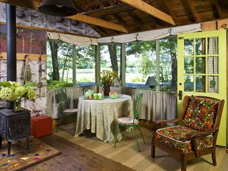 Stanfordville cottage photo - front room - dining with lake view