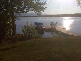 Big Lake cabin photo - Coffee in the mornings on the dock is the perfect start to a perfect day!