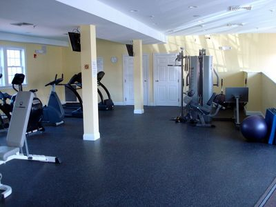 Fitness Center in the Barn