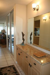 Granite Countertop Credenza as you enter the front door of our condo.