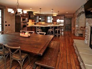 Sundance cabin photo - Private Spacious dining seats 12