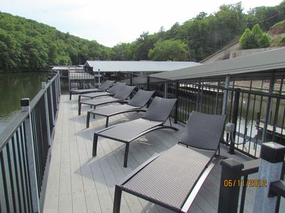 Sundeck on top of docks available for use.