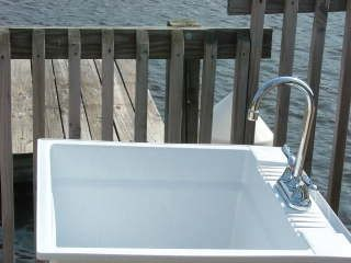 Tuckerton - Little Egg Harbor house photo - Outdoor Sink for Fish Cleaning