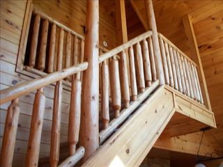 Gatlinburg cabin photo - All wood, two story cabin with great views