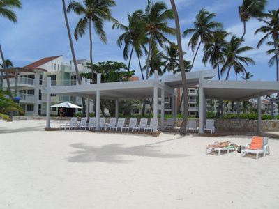 Shaded Beach Club Area