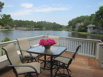 Sea Pines house rental - The view from the deck is outstanding. Imagine happy hour watching the sunset!